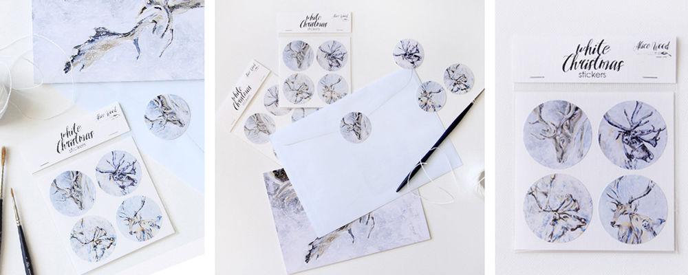 новогодние открытки, alice wood