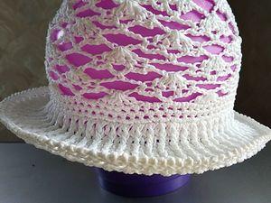 Вяжем шляпку детскую крючком. Ярмарка Мастеров - ручная работа, handmade.