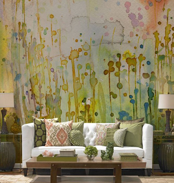 The Tenderest Interior: Abstract Watercolours on Modern Wallpapers, фото № 8