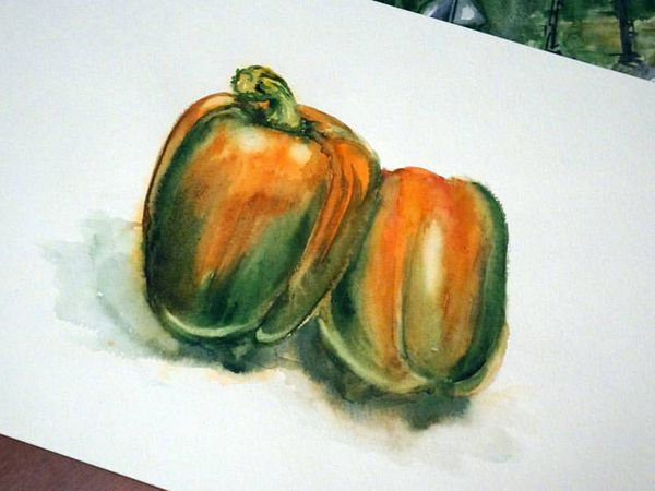 Видео мастер-класс: рисуем перец акварелью | Ярмарка Мастеров - ручная работа, handmade