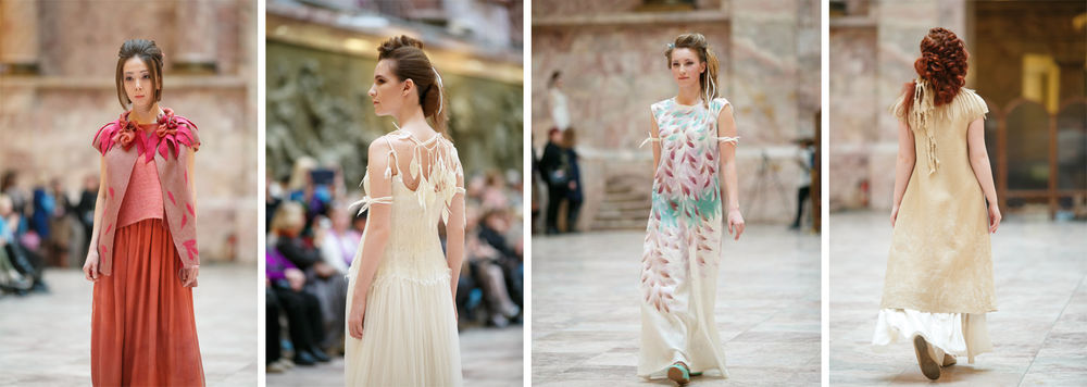 выставка войлока, одежда из войлока, свадьба