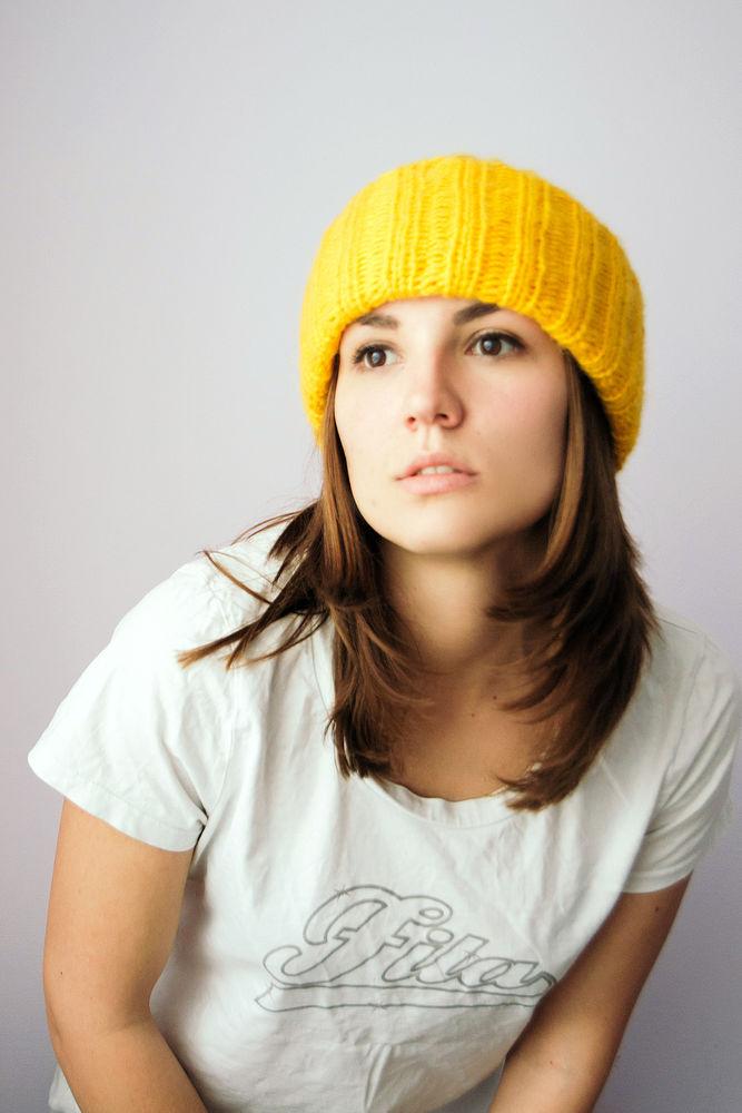 тёплая шапка, синяя