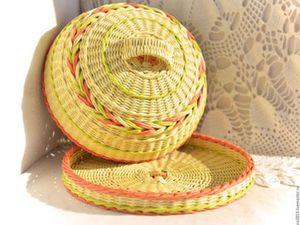 плетеная хлебница
