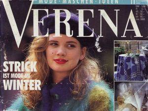 Verena № 11/1992. Содержание. Ярмарка Мастеров - ручная работа, handmade.