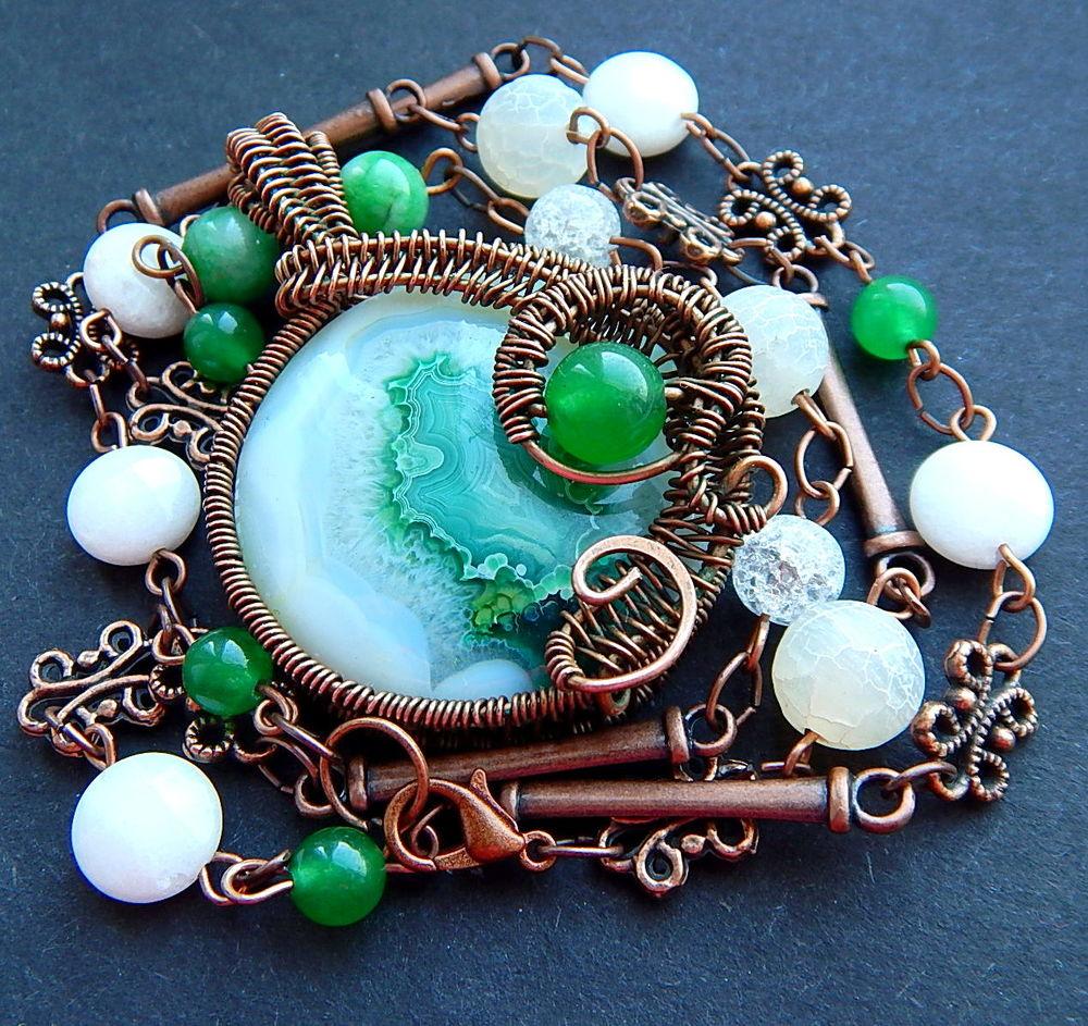 браслет с рубином, ожерелье медное, подвеска с сердоликом, ожерелье с подвеской, распродажа готовых работ, аукцион на ожерелье, акции и распродажи