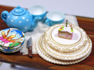 Видео мастер-класс: миниатюрные резные тарелочки из полимерной глины. Ярмарка Мастеров - ручная работа, handmade.