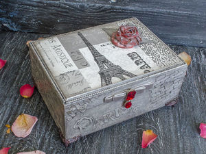 Дополнительные фотографии шкатулки Любовь к Парижу. Ярмарка Мастеров - ручная работа, handmade.
