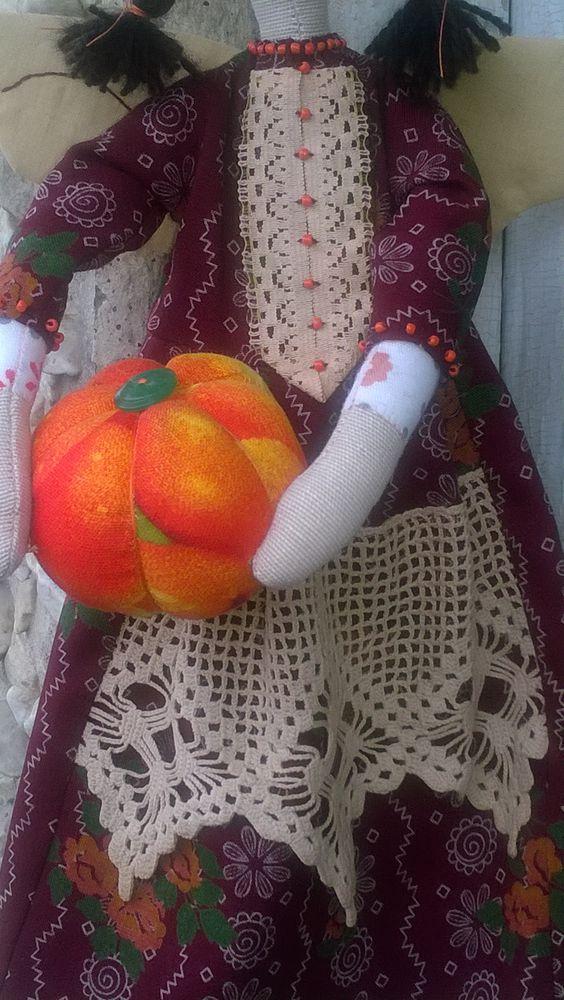 интерьерная кукла, оранжевый, для подруги