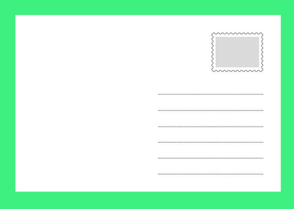 Как напечатать почтовые открытки