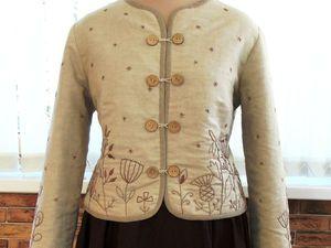Душегрея с вышивкой в коричневой гамме | Ярмарка Мастеров - ручная работа, handmade