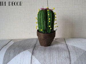 Шьем забавную игольницу в форме кактуса из фетра. Ярмарка Мастеров - ручная работа, handmade.