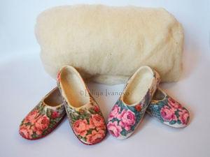 Эко-обувь, валяная из натуральной овечьей шерсти. О пользе ношения валяных тапочек для здоровья. Ярмарка Мастеров - ручная работа, handmade.