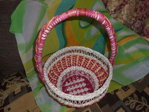 Видеоурок: послойное плетение корзины из бумажных трубочек. Часть 3. Ярмарка Мастеров - ручная работа, handmade.