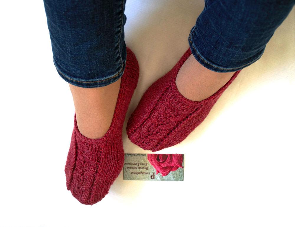 следики вязаные, носки вязаные, носки шерстяные