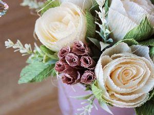 Создаем нежный букет цветов в шляпной коробочке. Видео мастер-класс. Ярмарка Мастеров - ручная работа, handmade.