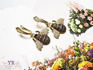 Распродажа сережек с пчелками!. Ярмарка Мастеров - ручная работа, handmade.