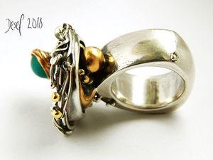"Кольцо ""Сатурн"". Ярмарка Мастеров - ручная работа, handmade."