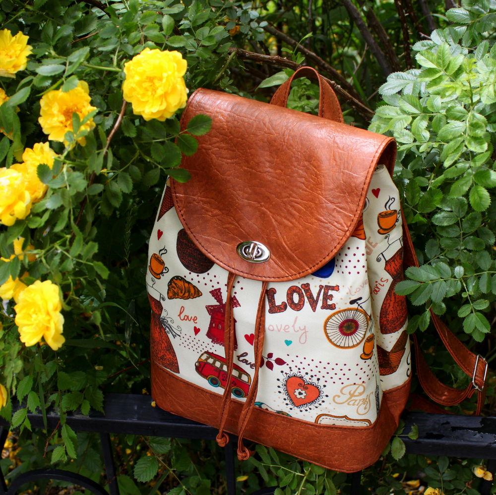 рюкзак на лето, кожаный рюкзак, париж, лето 2017