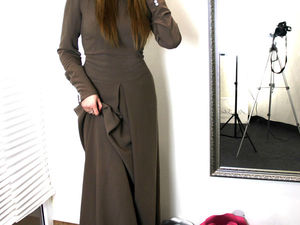 Платье из крепа   Ярмарка Мастеров - ручная работа, handmade