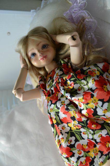 шарнирная кукла, подарок на любой случай, кукла ручной работы, флюмо, кукла из флюмо