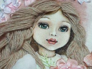 Новая картина с изящной куколкой.. Ярмарка Мастеров - ручная работа, handmade.