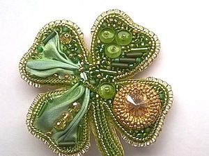 DIY on Creating a Cloverleaf Brooch for Luck. Livemaster - handmade