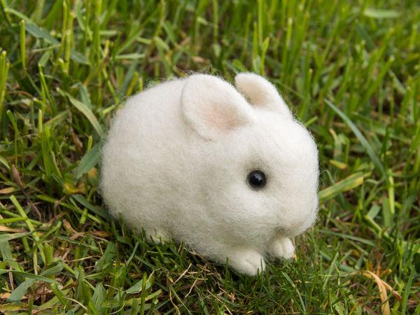 Мастер-класс по валянию крольчонка | Ярмарка Мастеров - ручная работа, handmade