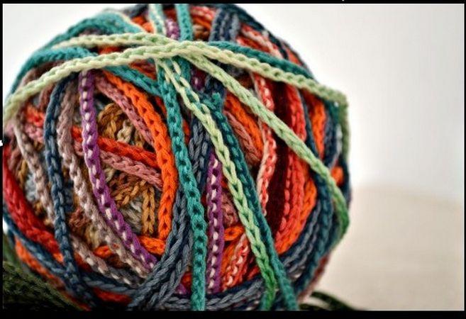 Остатки ниток для вязания крючком