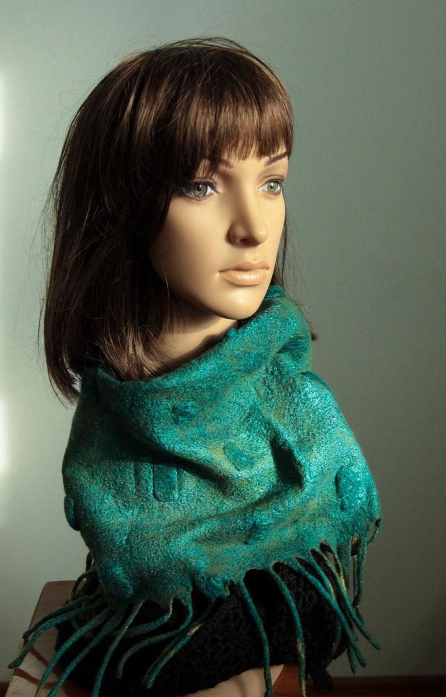 шарф из войлока