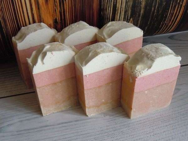 Фруктовый пудинг - мыло для ухода и бережного очищения с содой | Ярмарка Мастеров - ручная работа, handmade