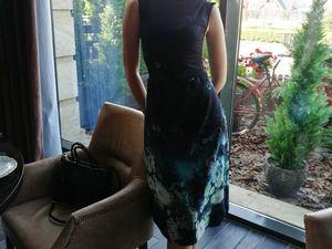 Платье из ткани Anna Rachele. Ярмарка Мастеров - ручная работа, handmade.