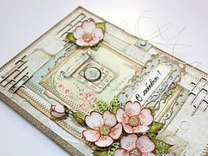 """How to Make a Delicate Greeting Card """"With love!"""". Livemaster - handmade"""