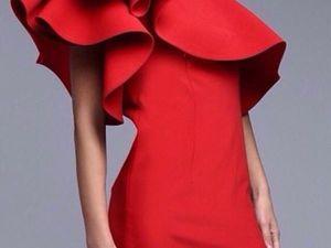 Как сделать стоячими «крылья» в платье?   Ярмарка Мастеров - ручная работа, handmade