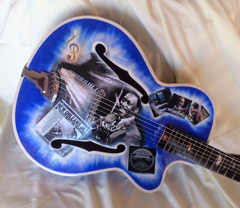 гитара декупаж, музыка