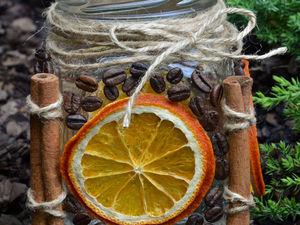 Декорирование стеклянной баночки в осеннем эко-стиле. Ярмарка Мастеров - ручная работа, handmade.