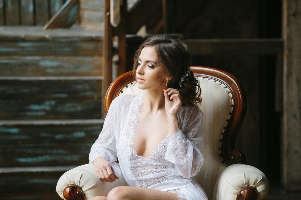 образ невесты, красивый халатик