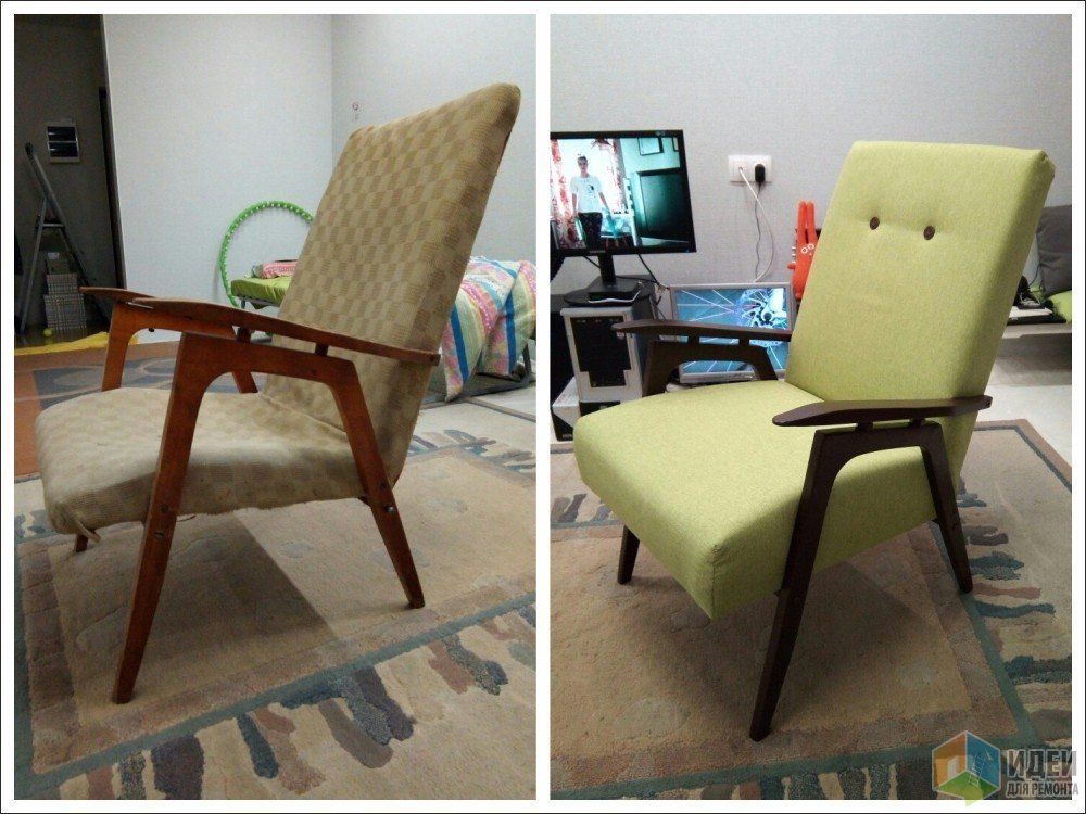 Ремонт старого кресла