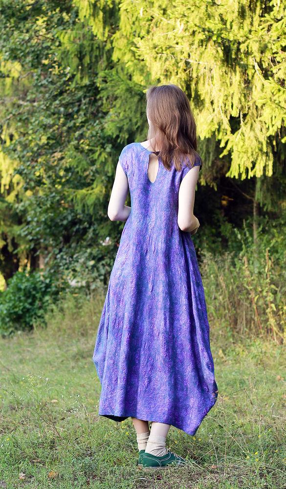 платье войлочное