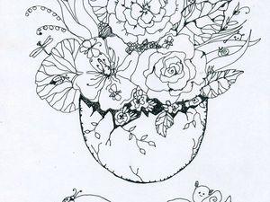 Раскраска в подарок! | Ярмарка Мастеров - ручная работа, handmade