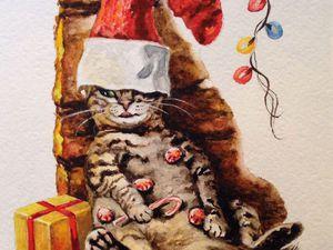 Скоро Новый год!!! Кот Круглый Год!!! | Ярмарка Мастеров - ручная работа, handmade
