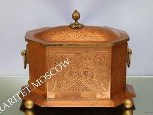 РЕДКОСТЬ Шкатулка ваза бисквитница медь бронза 17   Ярмарка Мастеров - ручная работа, handmade