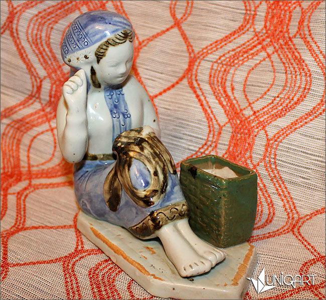 фарфор, антиквариат, гжель, винтажный фарфор, винтажный стиль, антикварная статуэтка, ностальгия, советский фарфор, коллекционная миниатюра, статуэтка