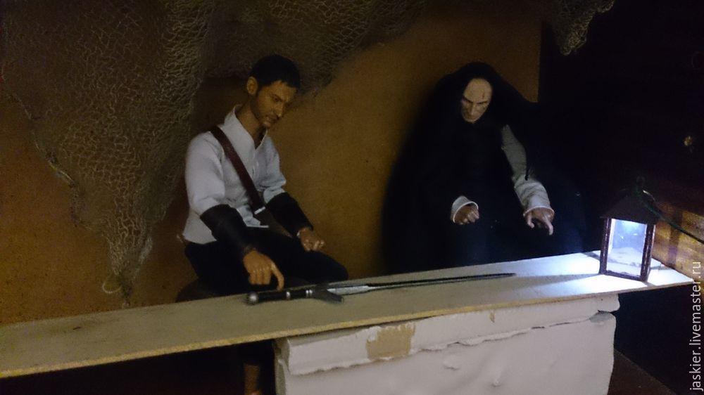 Мастерим для кукольного домика светящийся фонарь в миниатюре, фото № 15