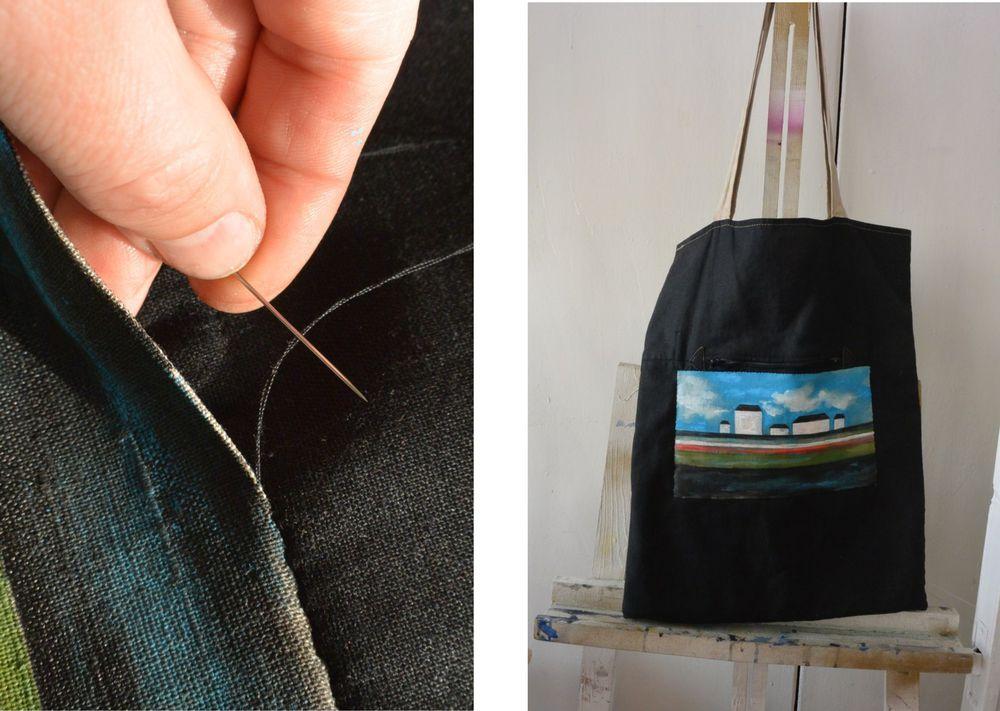 Реставрация льняной сумки., фото № 4