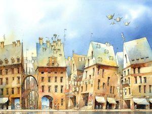 Tytus Brzozowski — акварелист, влюблённый в Варшаву. Ярмарка Мастеров - ручная работа, handmade.