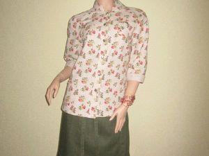 Жакет-рубашка из льна. Ярмарка Мастеров - ручная работа, handmade.