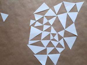 создаем и играем вместе с детьми в бумажный треугольный конструктор. Ярмарка Мастеров - ручная работа, handmade.