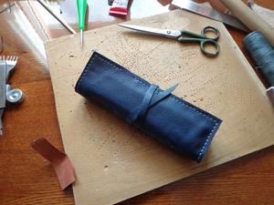 Создаем пенал из натуральной кожи. Ярмарка Мастеров - ручная работа, handmade.
