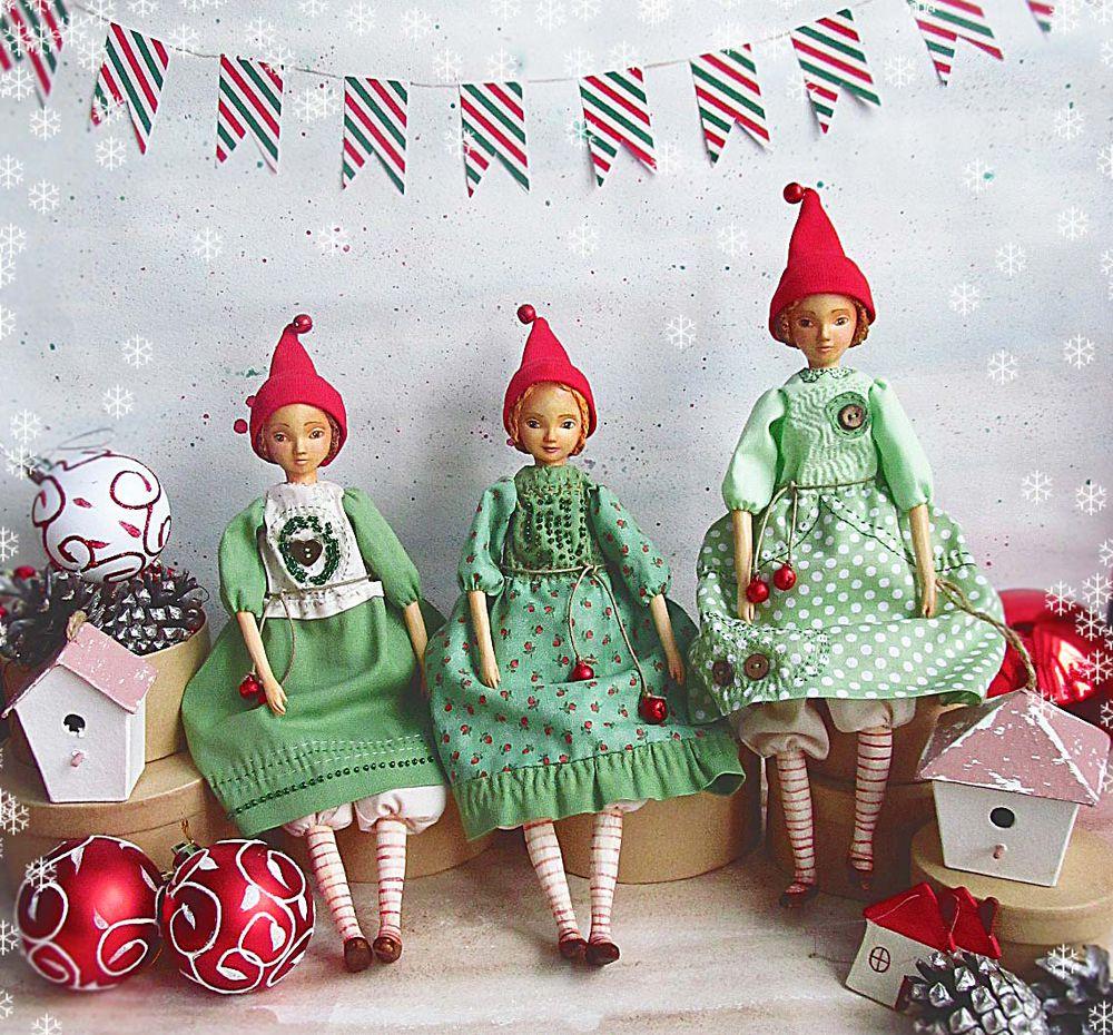 новый год, рождественский подарок, сказка, кукла ручной работы, коллекционная кукла
