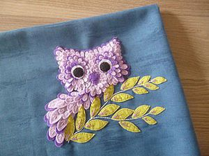 Making a Cute Felt Doodled Owl. Livemaster - handmade